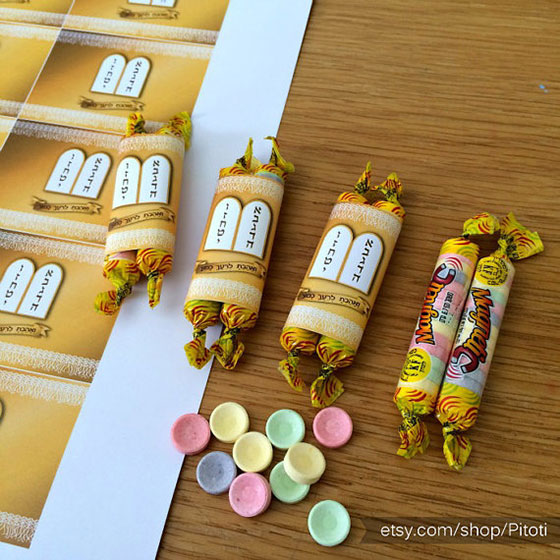 Custom Bat Mitzvah Printable Torah Candy Bar Wrappers