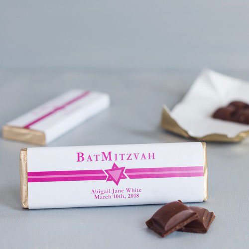 Personalized Bar/Bat Mitzvah Chocolate Bars