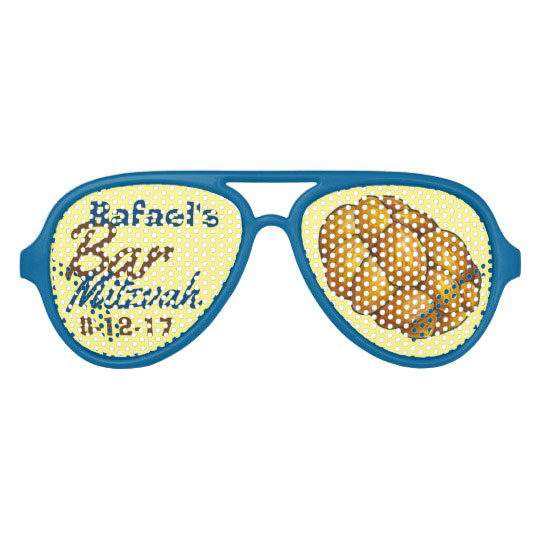 Personalized Challah Bread Bar Mitzvah Party Favor Aviator Sunglasses