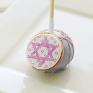Pink Star of David Bat Mitzvah Party Cake Pops