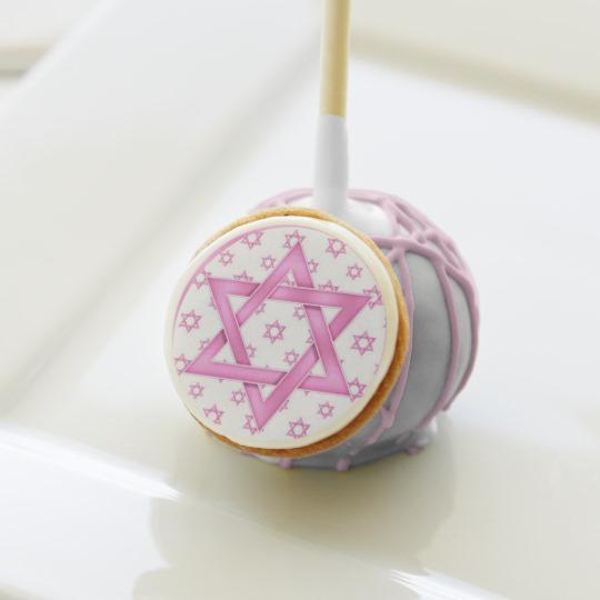 Pink Star of David Bat Mitzvah Party Cake Pops