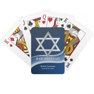 Star of David Bar Mitzvah Playing Cards