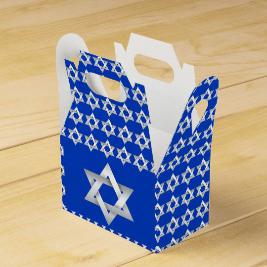 Star of David Favor Box