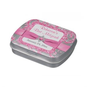 Winter Wonderland Bat Mitzvah Favor Candy Tin