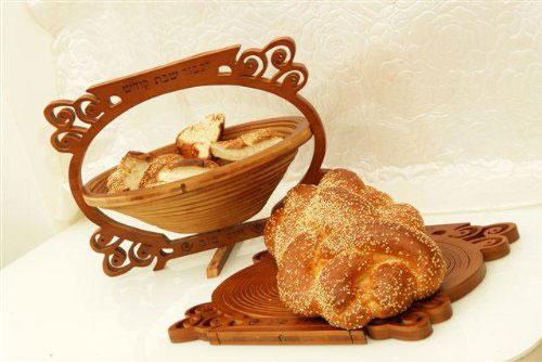 Amazing Wood Challah Board Basket for Serving (Made in Israel)