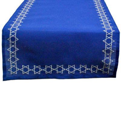 Dii Embroidered Table Runner Star Of David