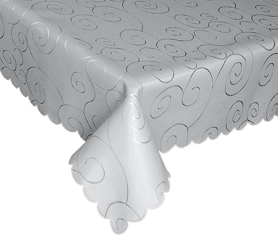 EcoSol Designs Microfiber Damask Swirls Tablecloth