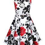 Girls Classy Audrey 1950s Vintage Rockabilly Swing Party Dress