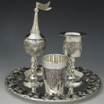 Grapes Motifs Silver Plated 4 Piece Havdalah Set