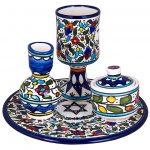 Havdalah Set 5 Pieces Armenian Ceramic