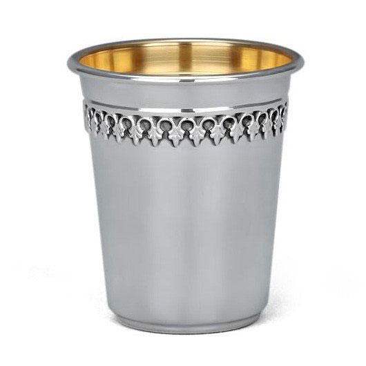Hazorfim 925 Sterling Silver Kiddush Cup Filigree