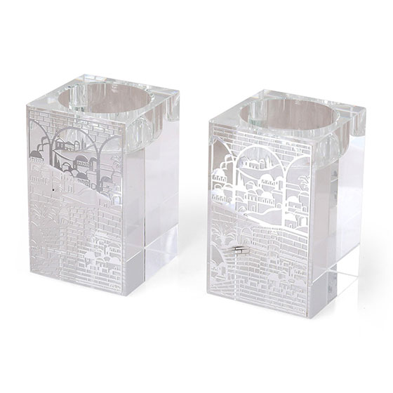 Jerusalem Crystal Candlesticks