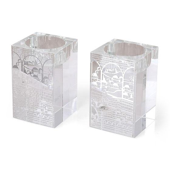 Jerusalem Crystal Candlesticks