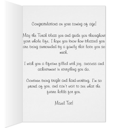 What Do You Write In A Bar/Bat Mitzvah Card?