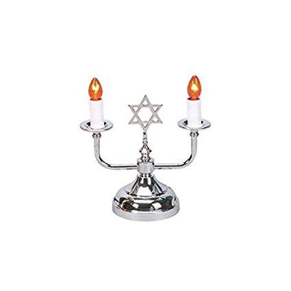 Jewish Shabbat & Holiday Electric 2 Light Candleholder Lamp