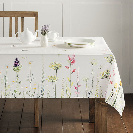 Maison d' Hermine Botanical Fresh 100% Cotton Tablecloth