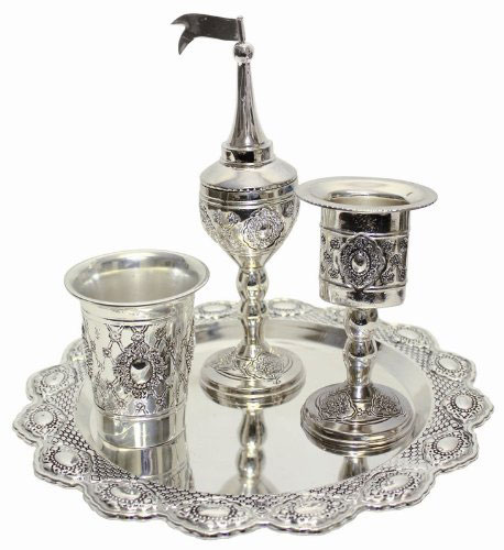 Majestic Giftware HS410 Havdalah Set, Silver Plated