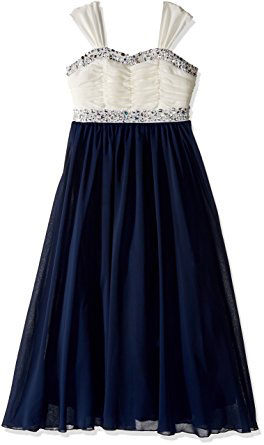 Speechless Big Girls Shirr Bodice With Trim Maxi Dress