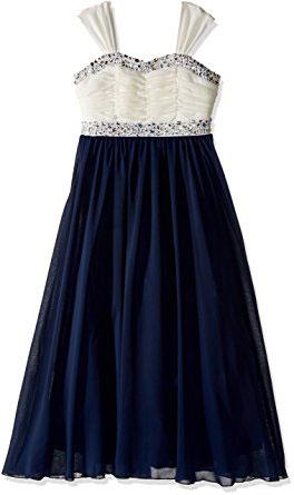 Speechless Big Girls Shirr Bodice With Trim Maxi Dress