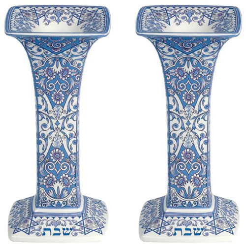 Spode Judaica Sabbath Candlesticks