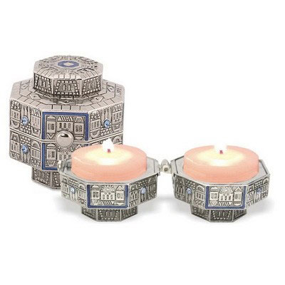 Travel Jerusalem Candlesticks Octagon