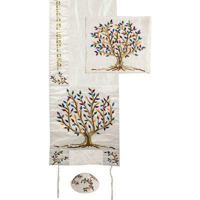 Tree of Life: Yair Emanuel Embroidered Polysilk Tallit (Colors)