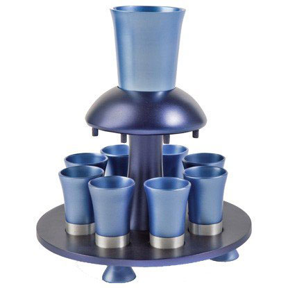 Yair Emanuel Anodized Aluminum Kiddush Fountain Blue