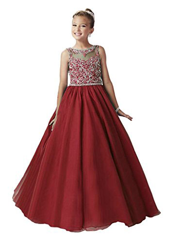 Yang Big Girls Royal Ball Gowns Bridesmaid Flower Pageant Dress