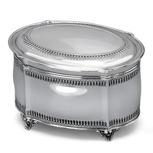 Hazorfim 925 Sterling Silver Etrog Box Filigree Oval