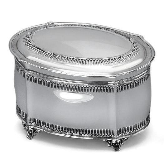 Hazorfim 925 Sterling Silver Etrog Box Filigree Oval