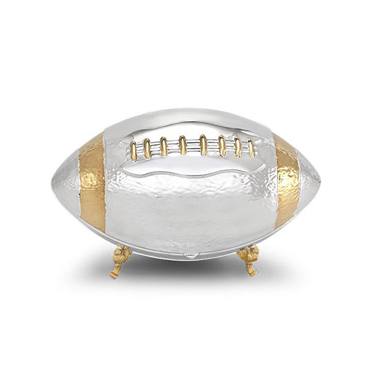Hazorfim Gold And 925 Sterling Silver Football Etrog Box