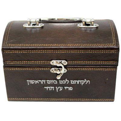 Leather Look Esrog Box