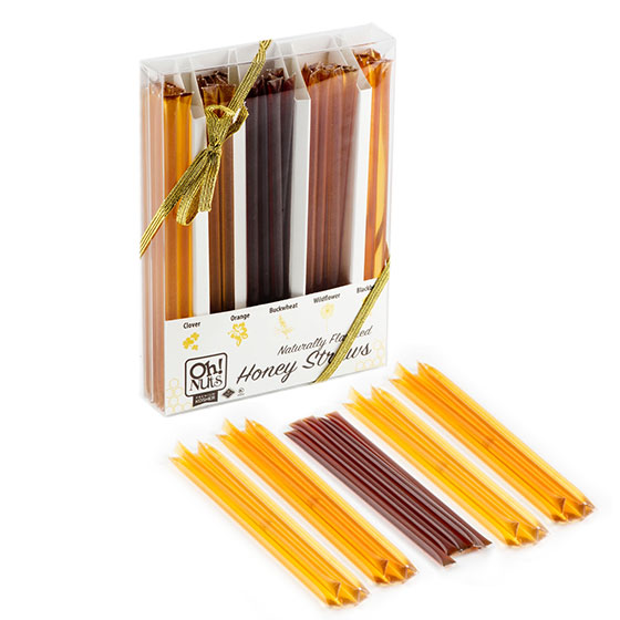 Naturally Flavored Honey Straw Gift Set