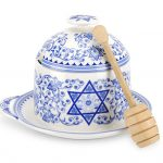 Spode Judaica Honey Pot