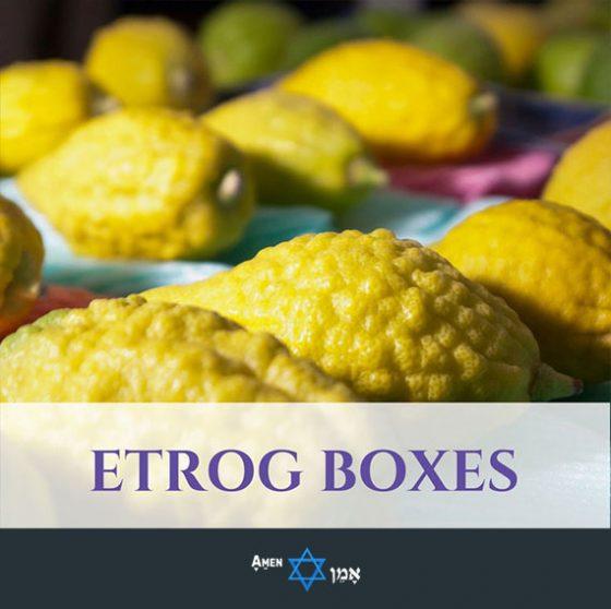 Sukkot Etrog Boxes