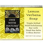 One With Nature Dead Sea Mineral Soap Lemon Sage