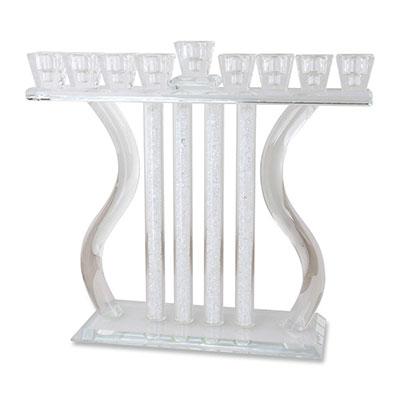 Crystal Davids Harp Hanukkah Menorah