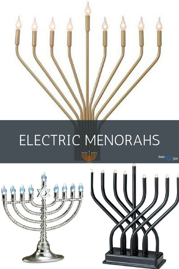 Electric Hanukkah Menorahs