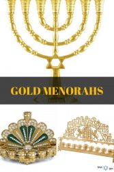 Gold + Brass Menorahs