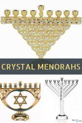Hanukkah Crystal Menorahs