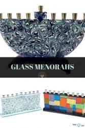 Hanukkah Glass Menorahs