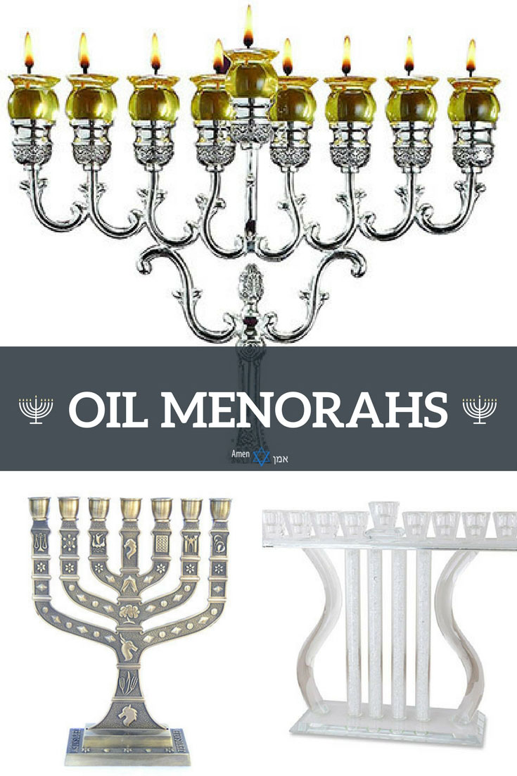 Hanukkah Oil Menorahs