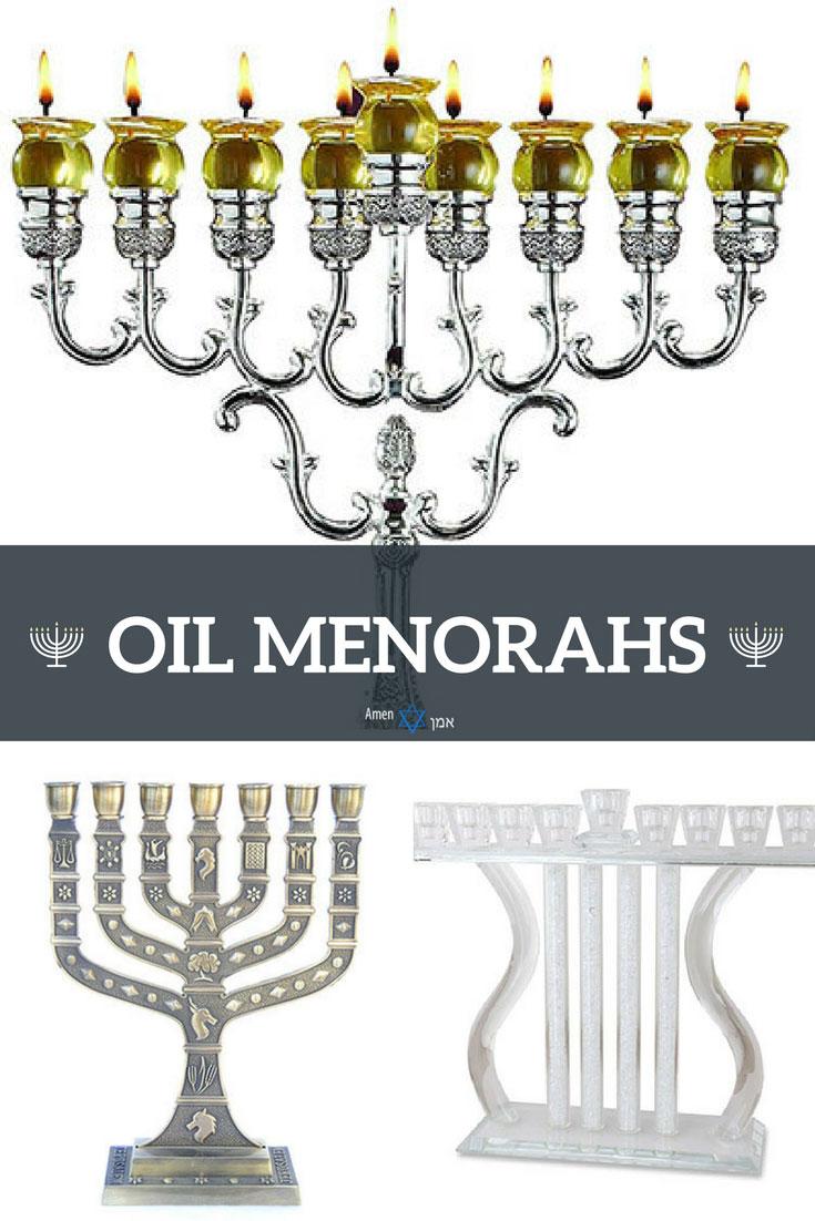Hanukkah Oil Menorahs