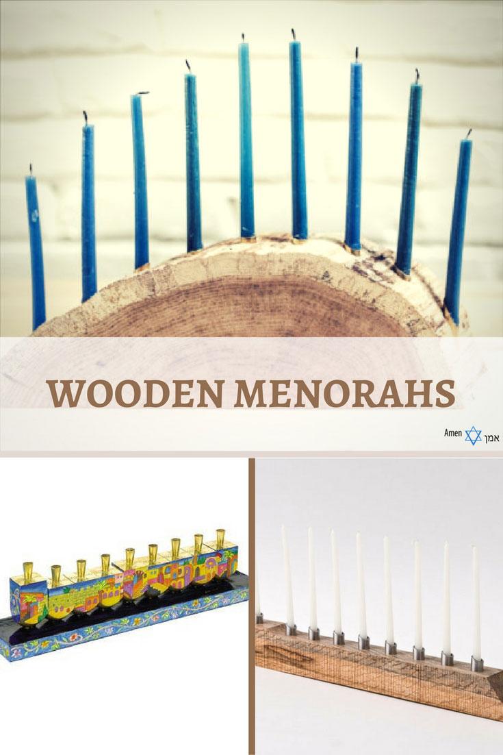 Hanukkah Wooden Menorahs