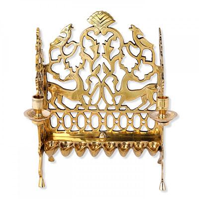 Israel Museum Hanukkah Menorah Replica 18th Century Poland