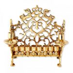 Israel Museum Hanukkah Menorah Replica Big Lions 18th Century Poland