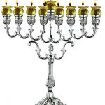 Ner Mitzvah Chanukah Oil Menorah Silver Plated