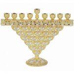 Olivia Riegel Gold Crystal Sinclair Menorah
