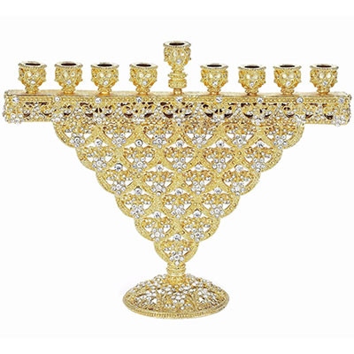 Olivia Riegel Gold Crystal Sinclair Menorah