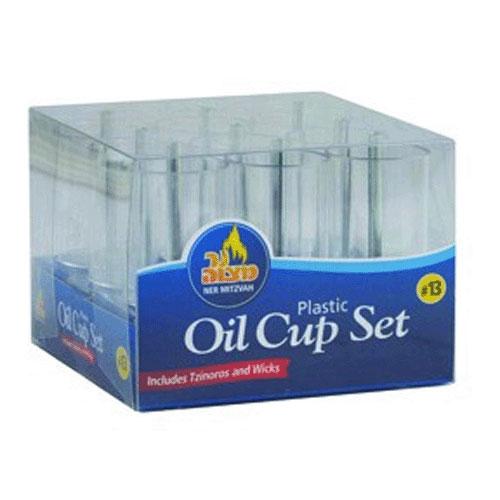 Plastic Menorah Oil Cup Set